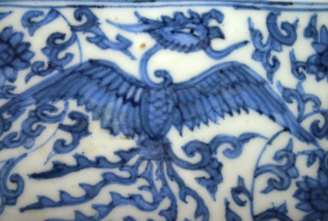 Important Ming. Blue & White Rectangular Dish - 3