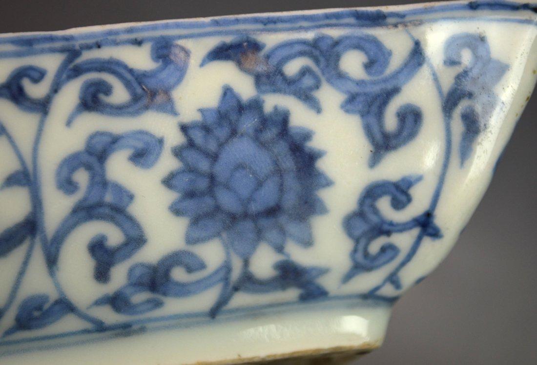 Important Ming. Blue & White Rectangular Dish - 4