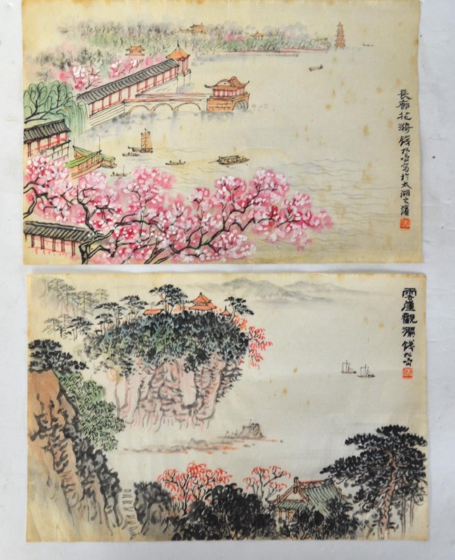 Two Chinese Watercolor Painting