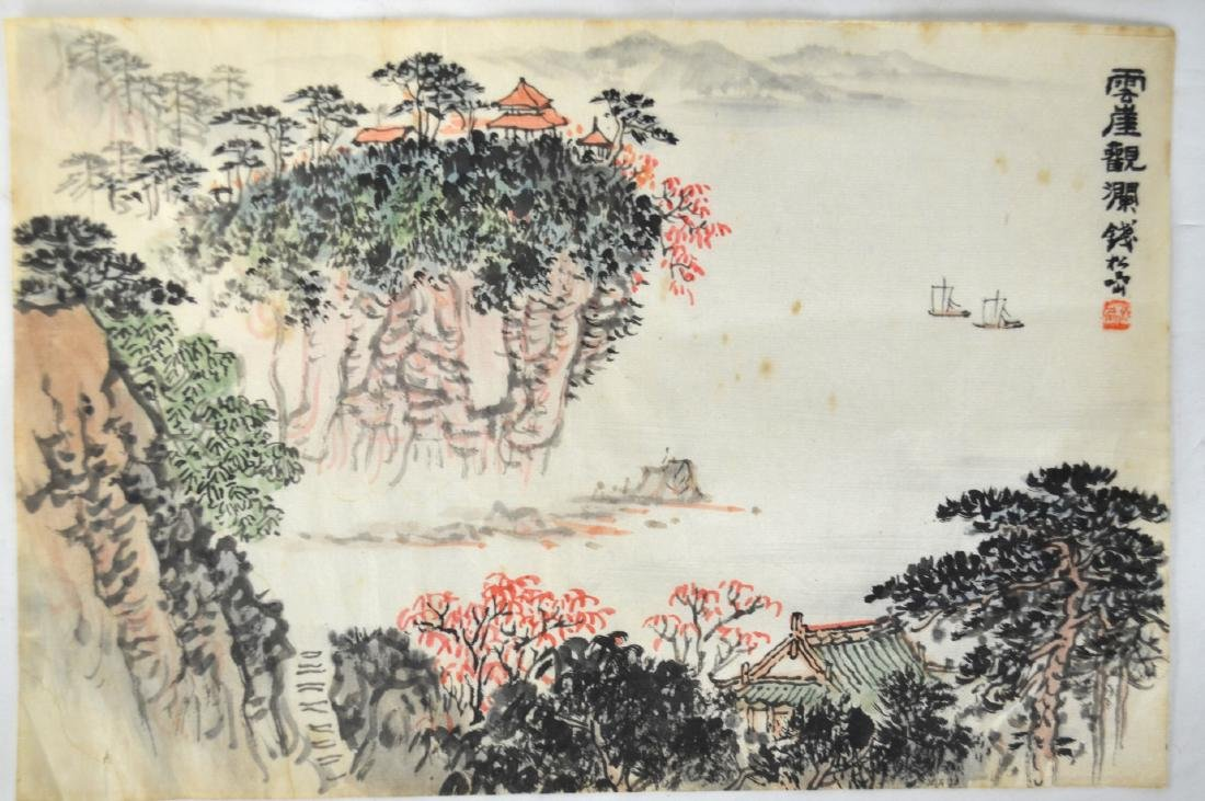 Two Chinese Watercolor Painting - 6