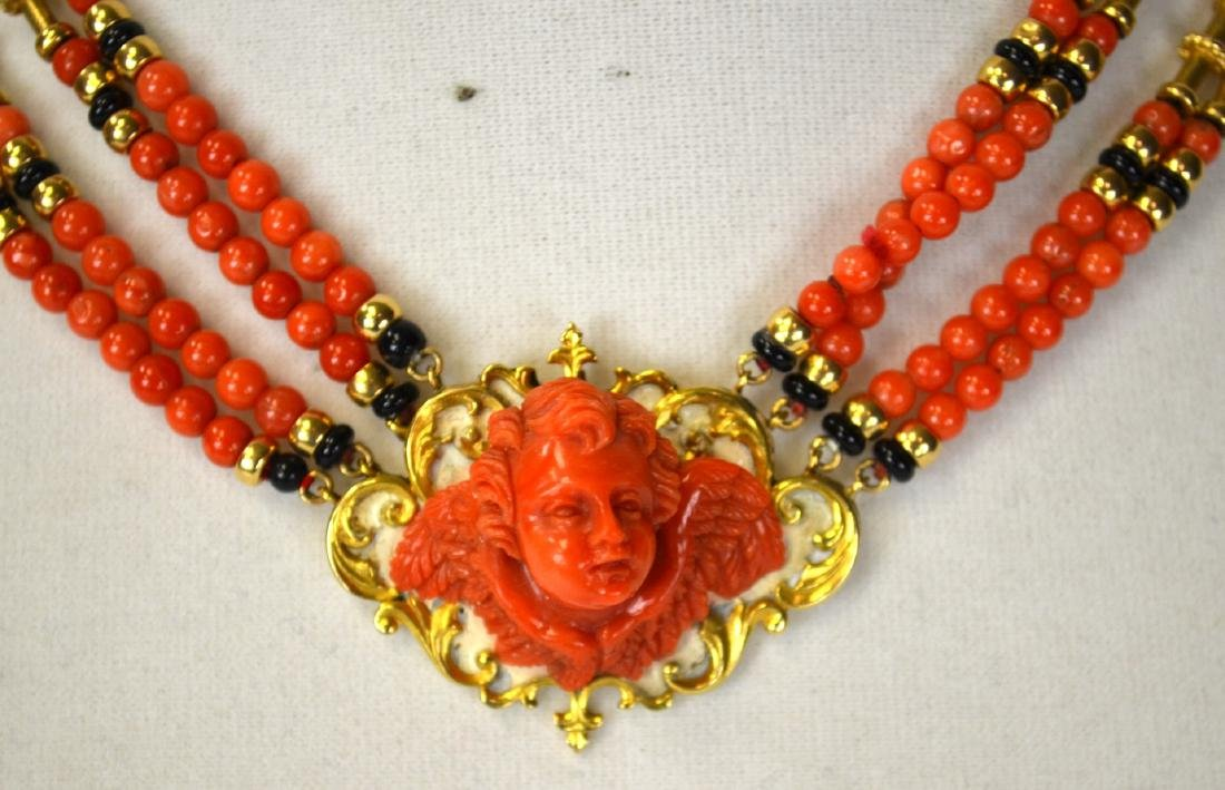 Coral Necklace Cameo - 2