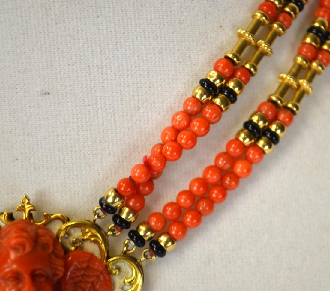 Coral Necklace Cameo - 3