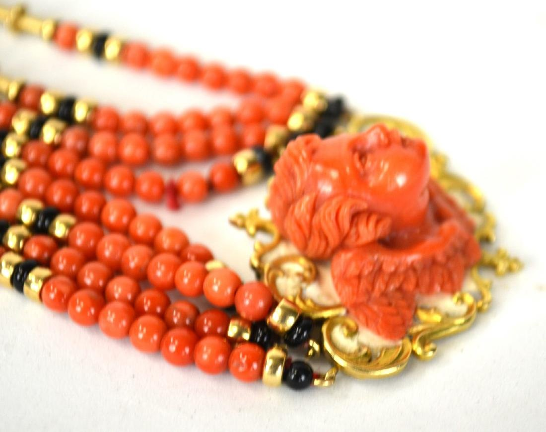 Coral Necklace Cameo - 5