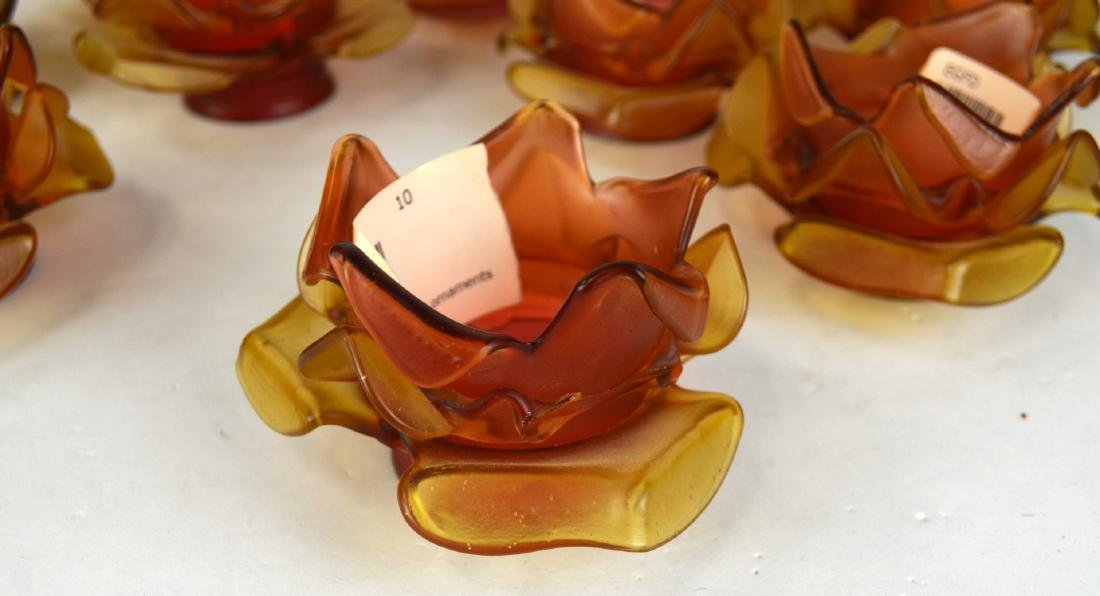Sotheby's Ten Flower Shaped Glass Shades - 6