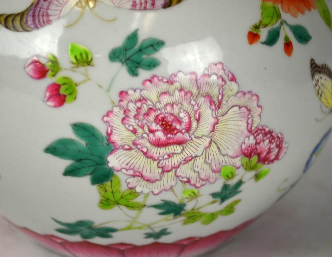 Chinese Famille Rose Vase with Handles - 3
