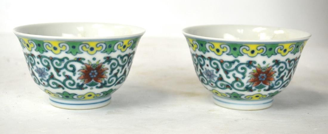 Pr Chinese Doucai Glazed Bowls