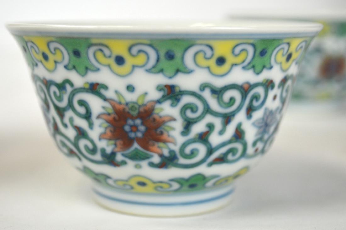 Pr Chinese Doucai Glazed Bowls - 2