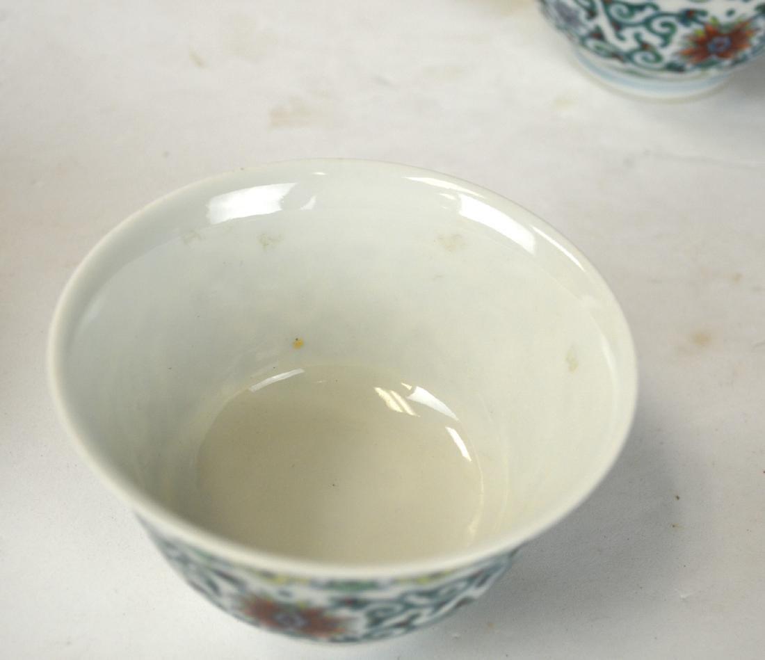 Pr Chinese Doucai Glazed Bowls - 3