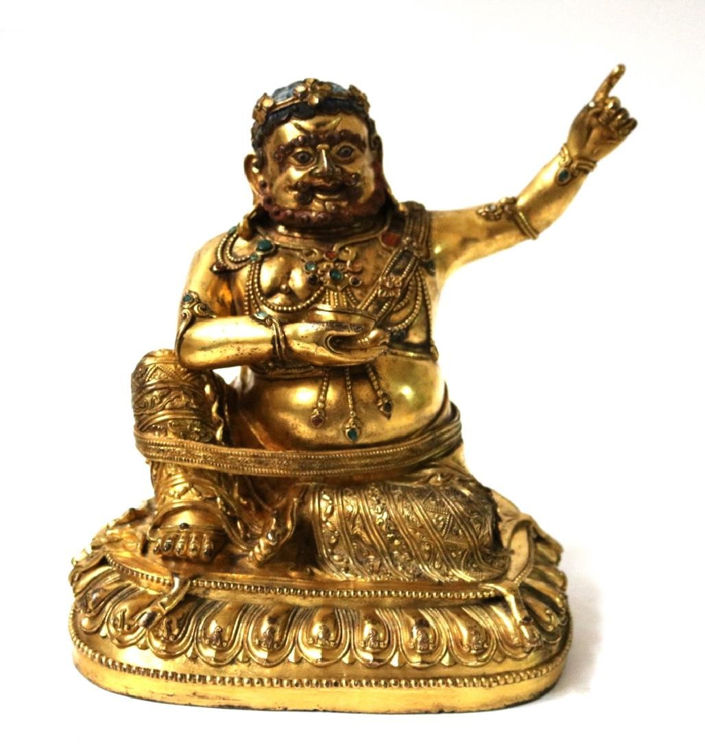 Chinese Gilt Bronze Luohan Figure