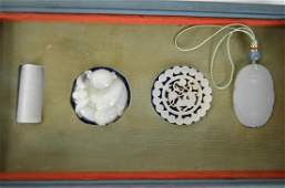 Four Chinese Carved Jade Pieces