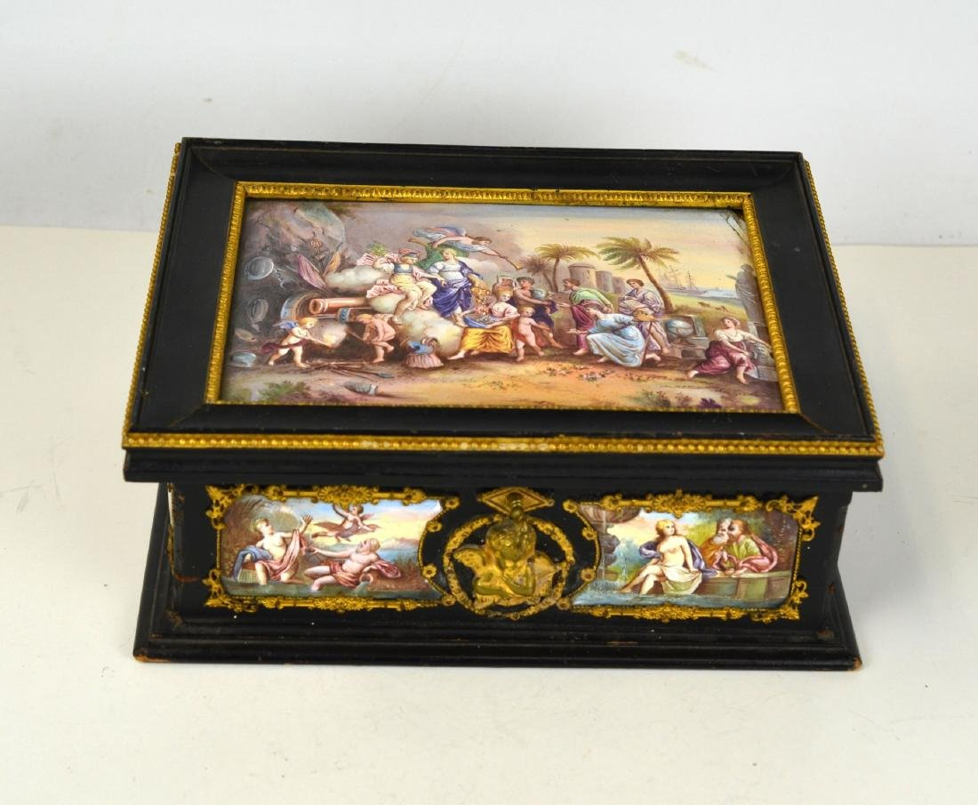 Vienna  Enamel Wood Box