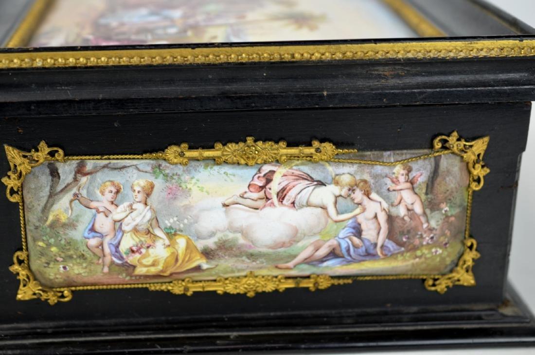 Vienna  Enamel Wood Box - 4