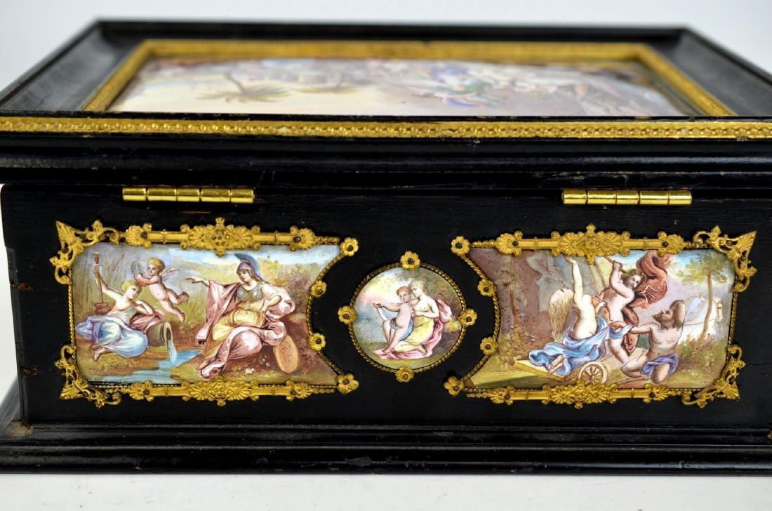 Vienna  Enamel Wood Box - 5