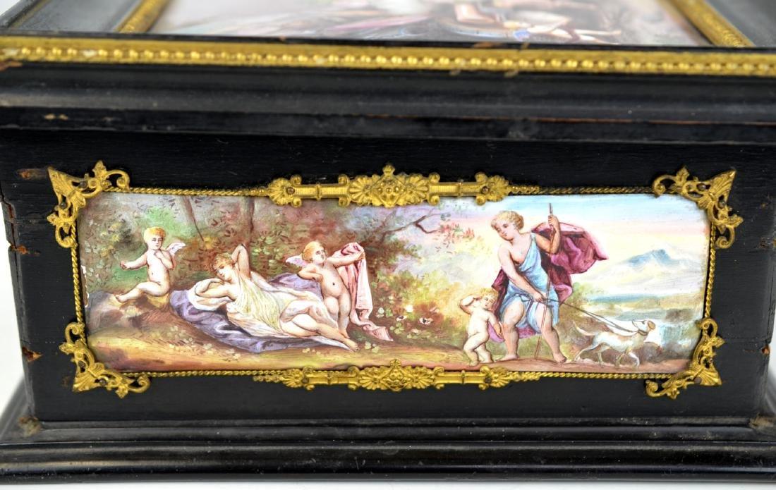 Vienna  Enamel Wood Box - 6