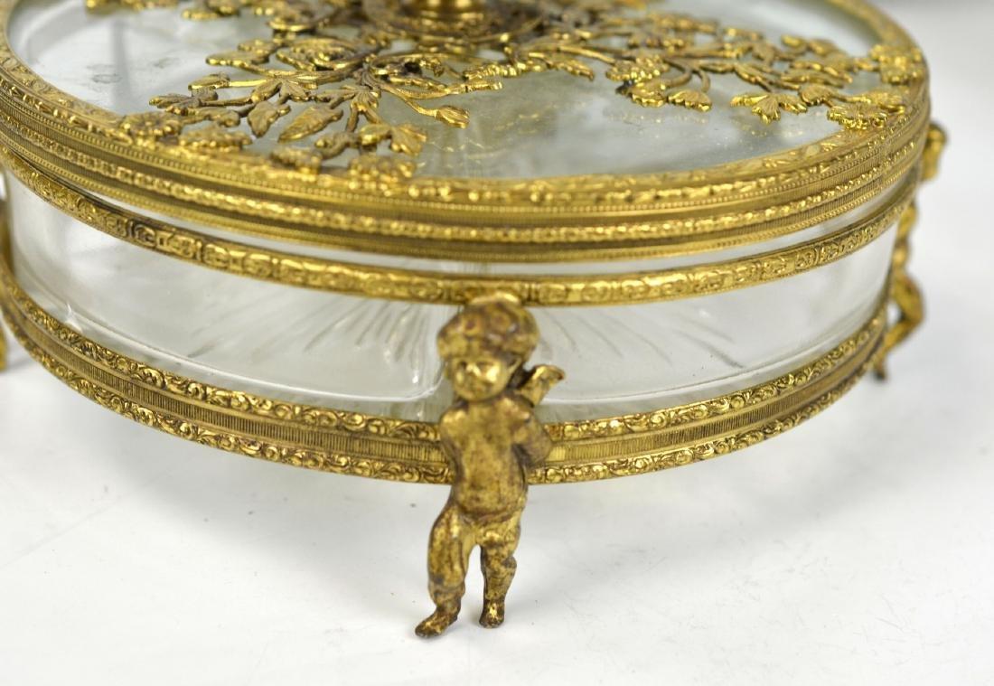 Three Pcs of Bronze & Glass Objects - 3