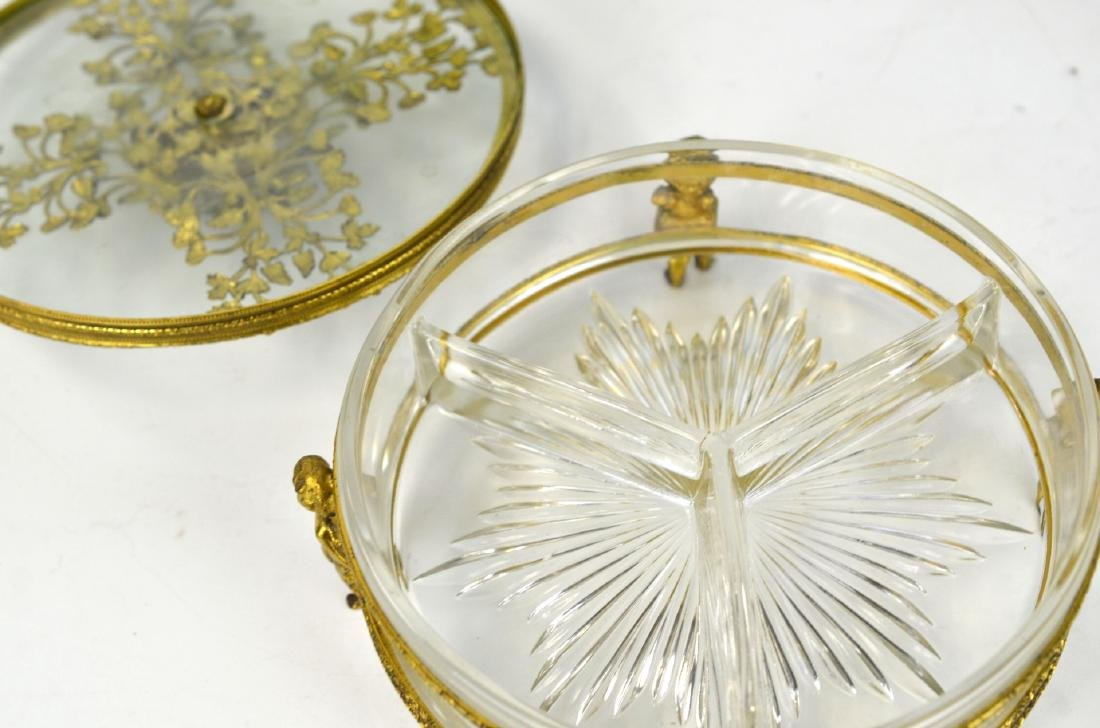 Three Pcs of Bronze & Glass Objects - 4