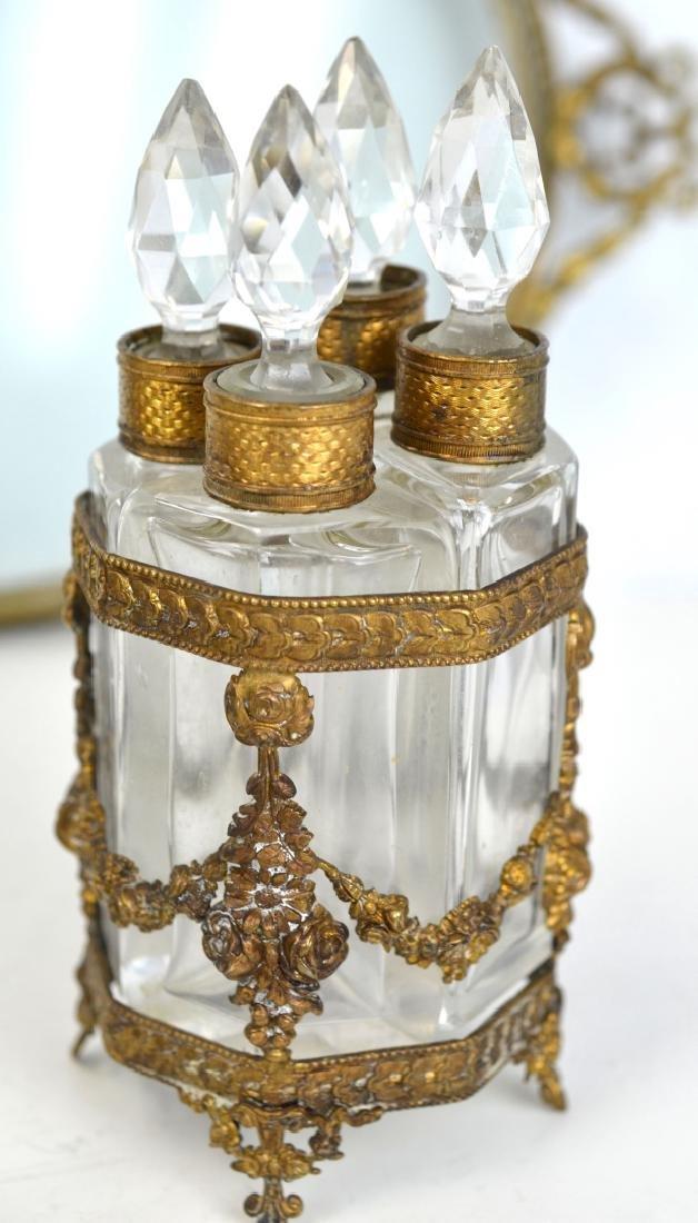 Three Pcs of Bronze & Glass Objects - 5