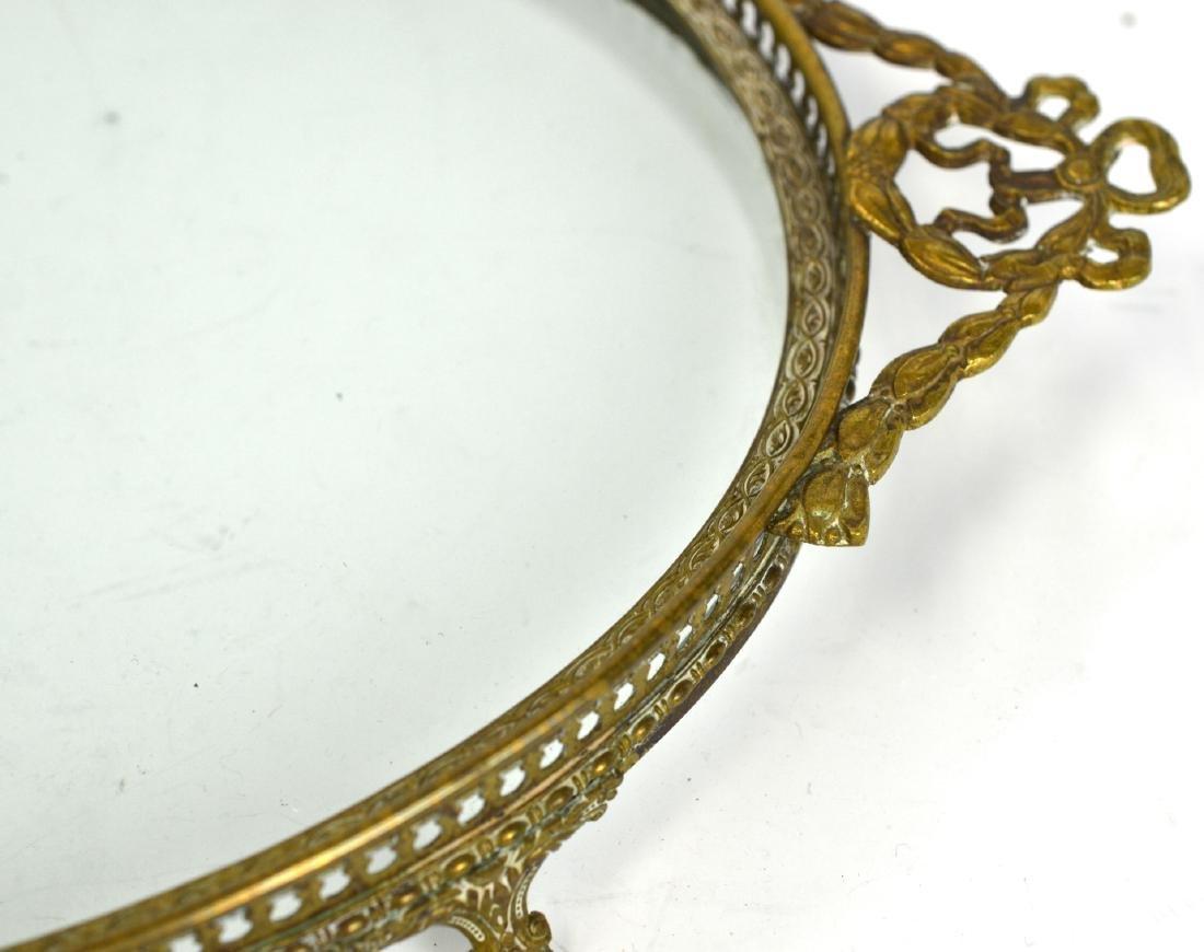 Three Pcs of Bronze & Glass Objects - 7