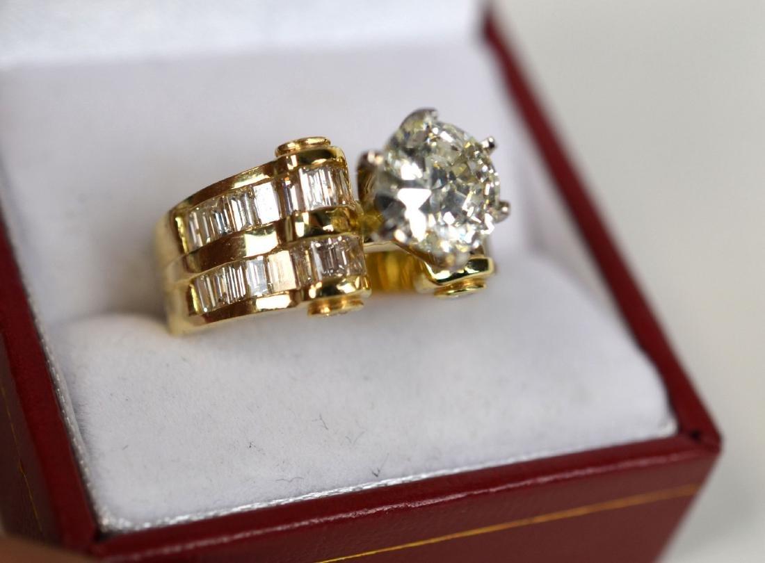 18K Gold GIA 2.04 Ct Center Round Cut Diamond Ring
