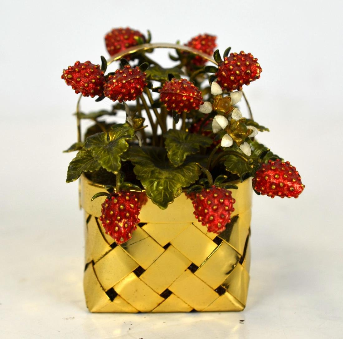 Cartier Gold Wash Strawberry Basket