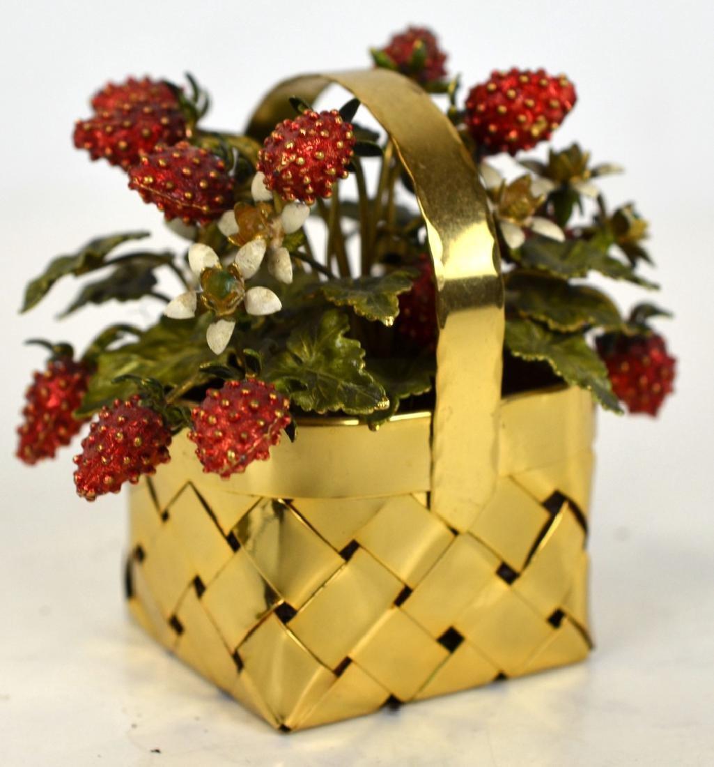 Cartier Gold Wash Strawberry Basket - 2