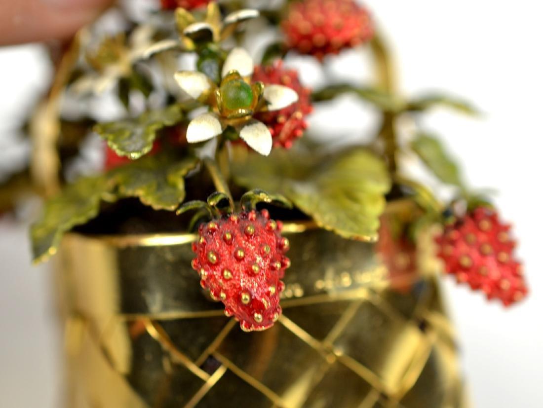 Cartier Gold Wash Strawberry Basket - 4