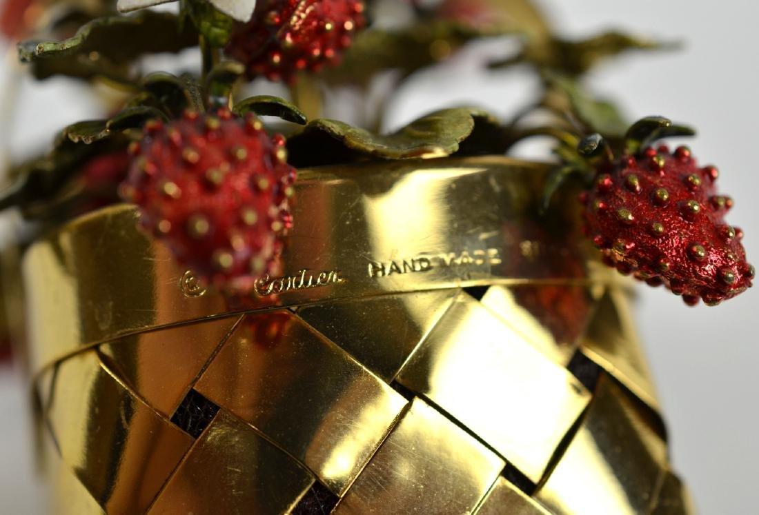 Cartier Gold Wash Strawberry Basket - 5