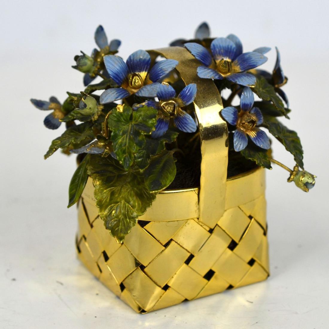 Cartier Gold Wash Blueberry Basket