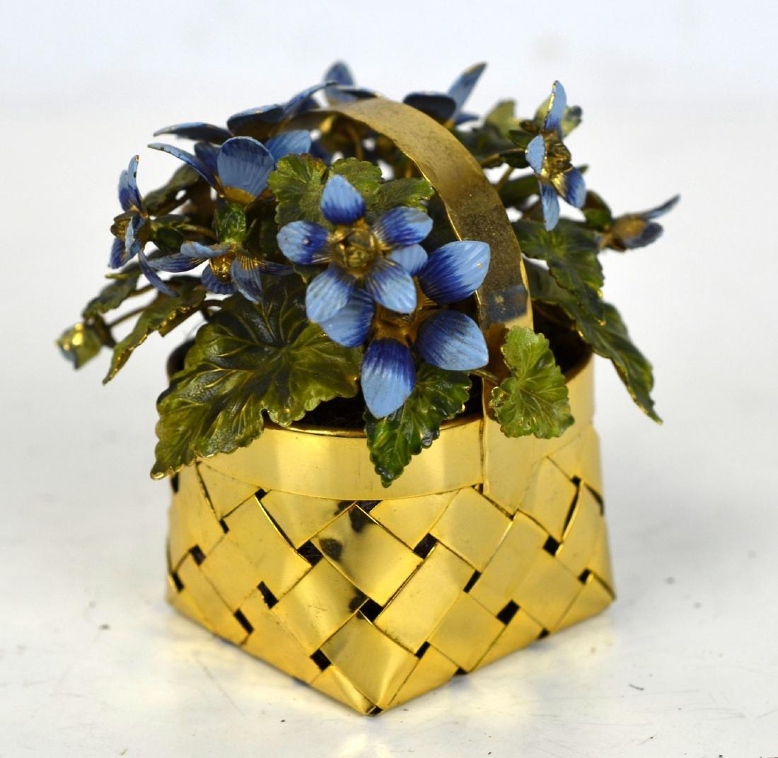 Cartier Gold Wash Blueberry Basket - 2