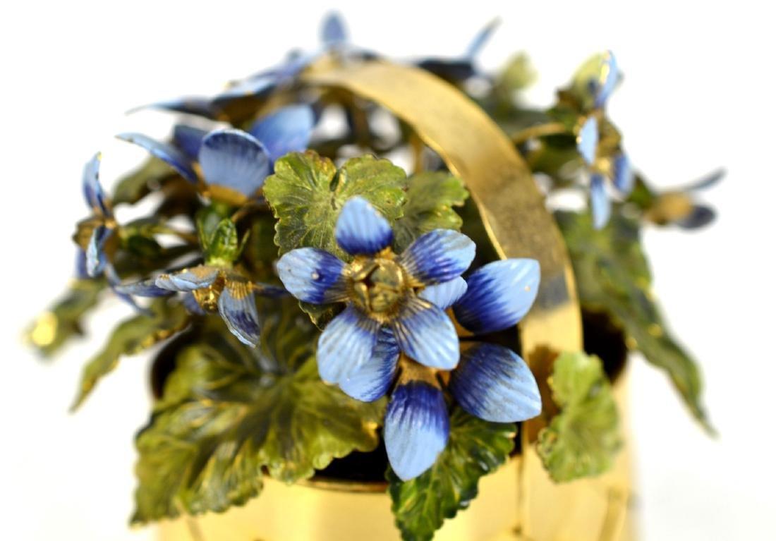 Cartier Gold Wash Blueberry Basket - 3