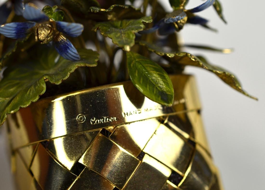 Cartier Gold Wash Blueberry Basket - 4