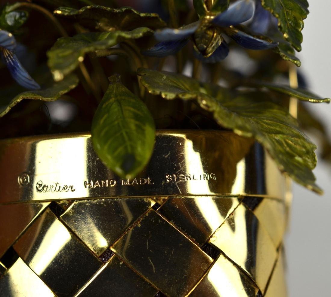 Cartier Gold Wash Blueberry Basket - 5