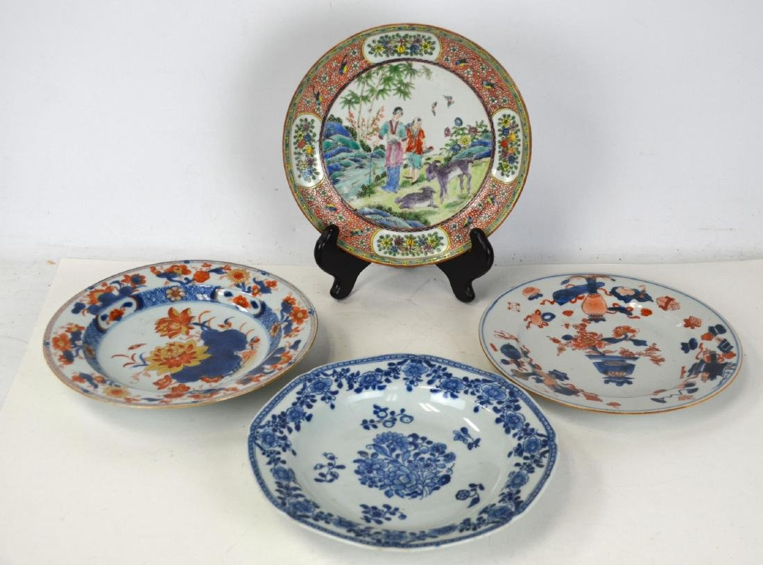 Four Chinese Porcelain Plates