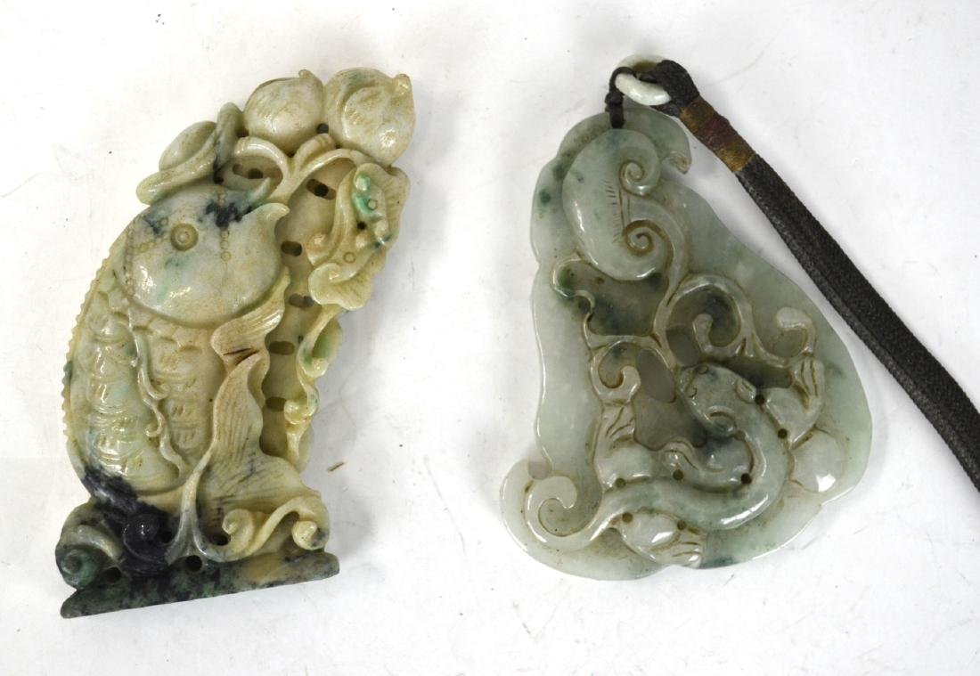 Two Chinese Jade Plaques