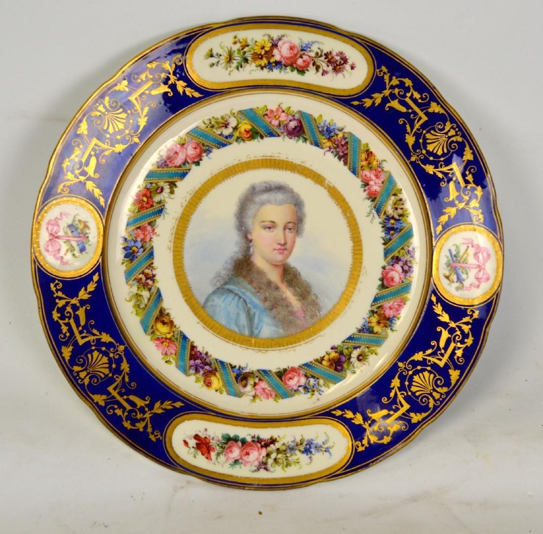 Fine Sevres Portrait Plate