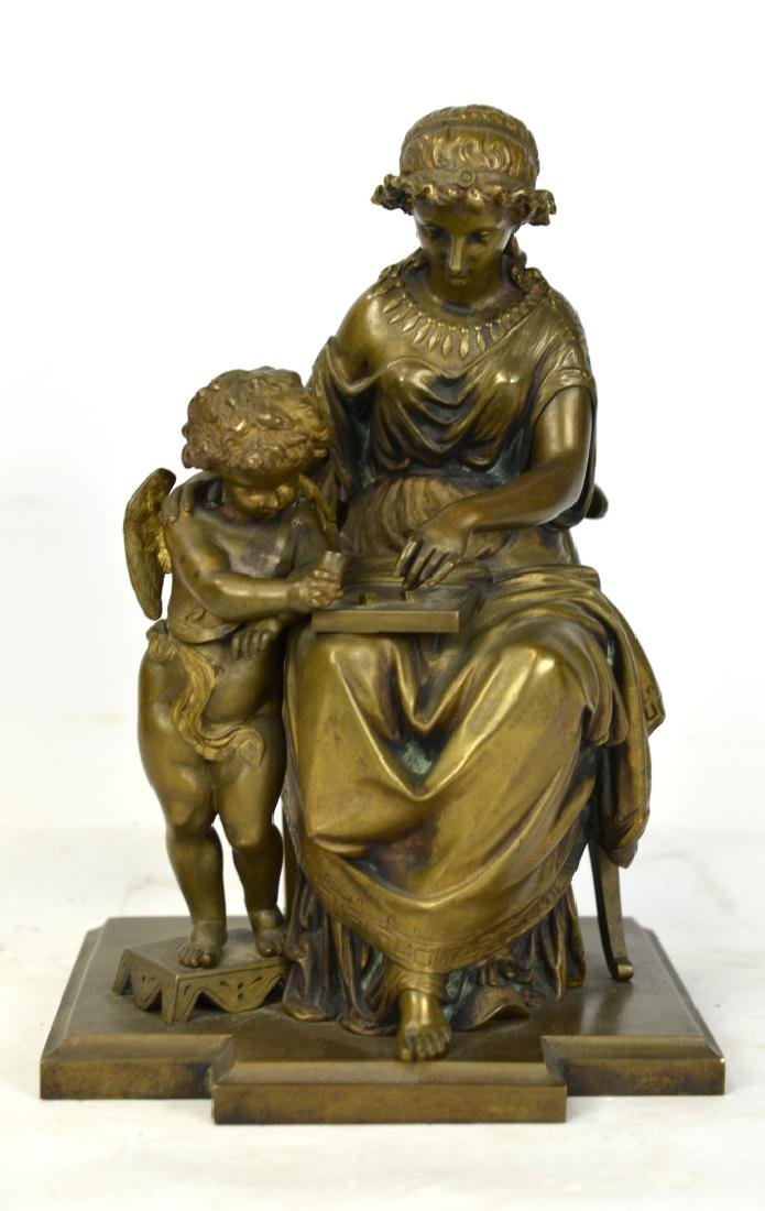 Gregoire Bronze Sculpture of Mother and Child