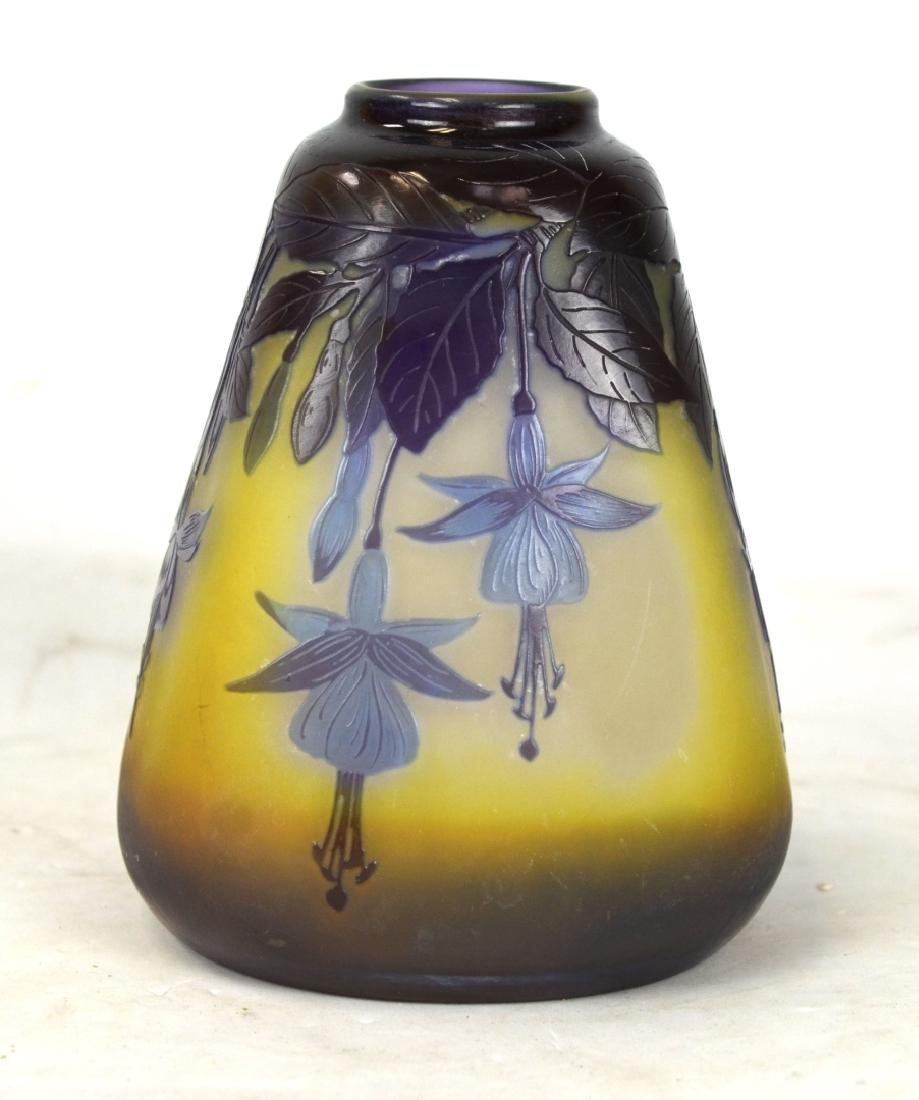 Galle Four Sided Purple Vase w Flowers
