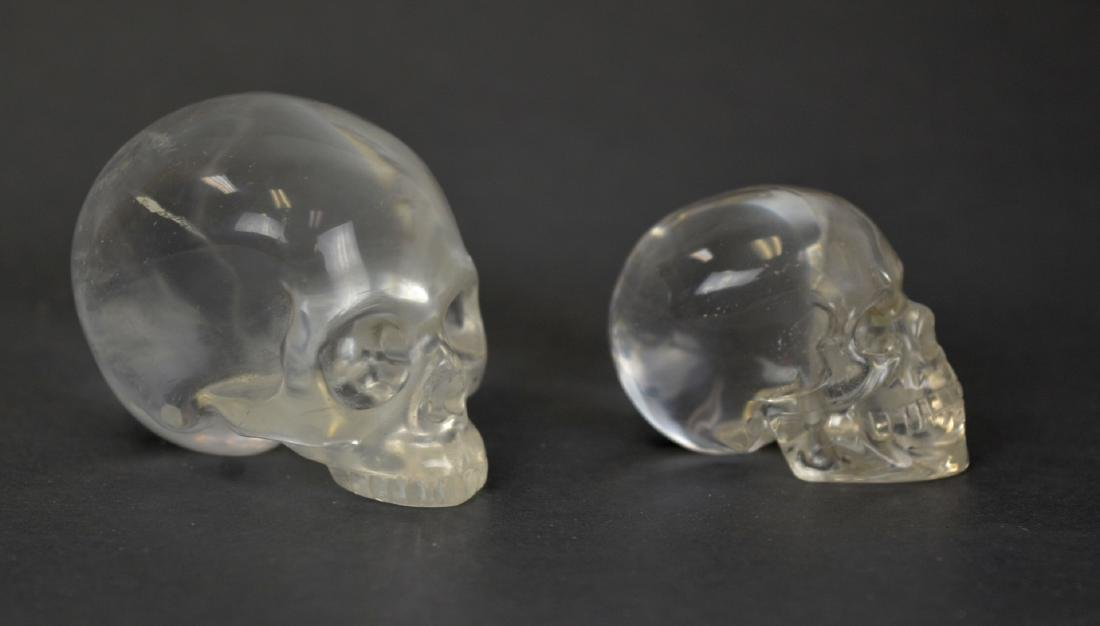Two Rock Crystal Skulls