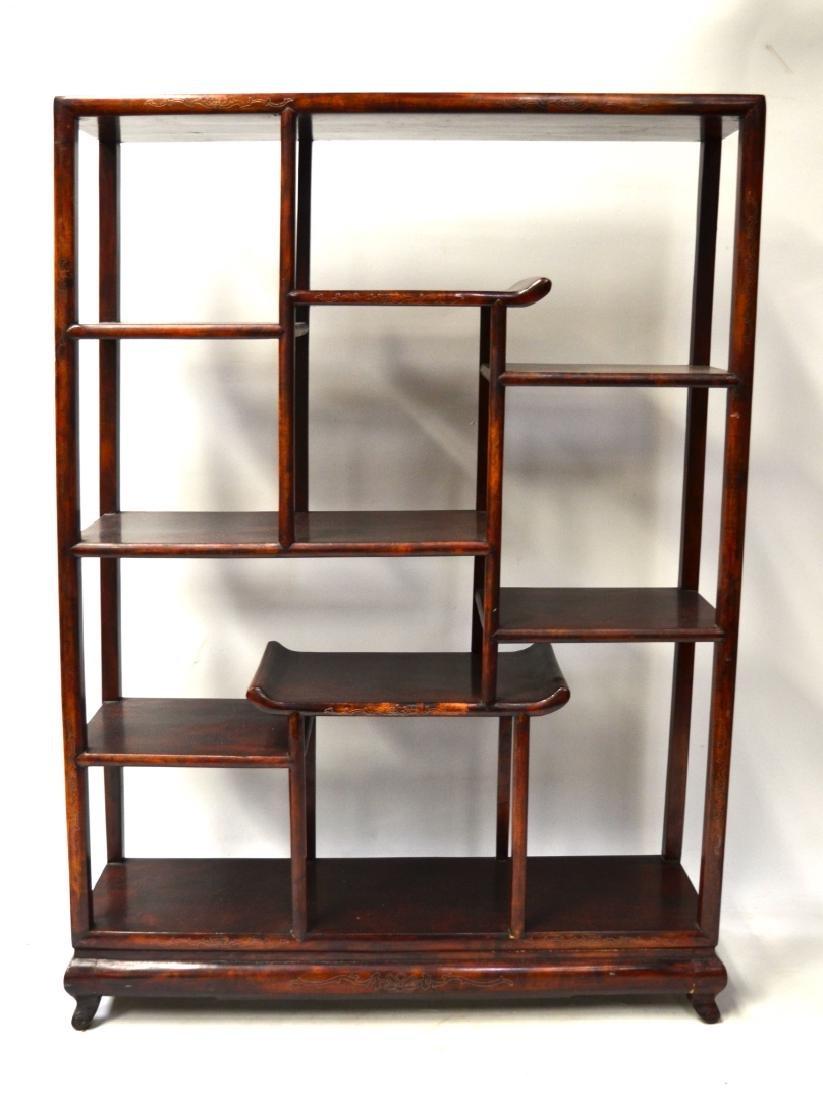 Chinese Wood Display Shelf