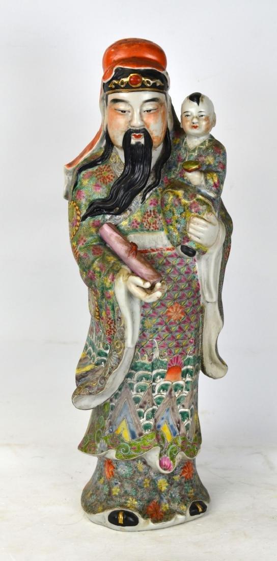 Large Chinese Porcelain Figure