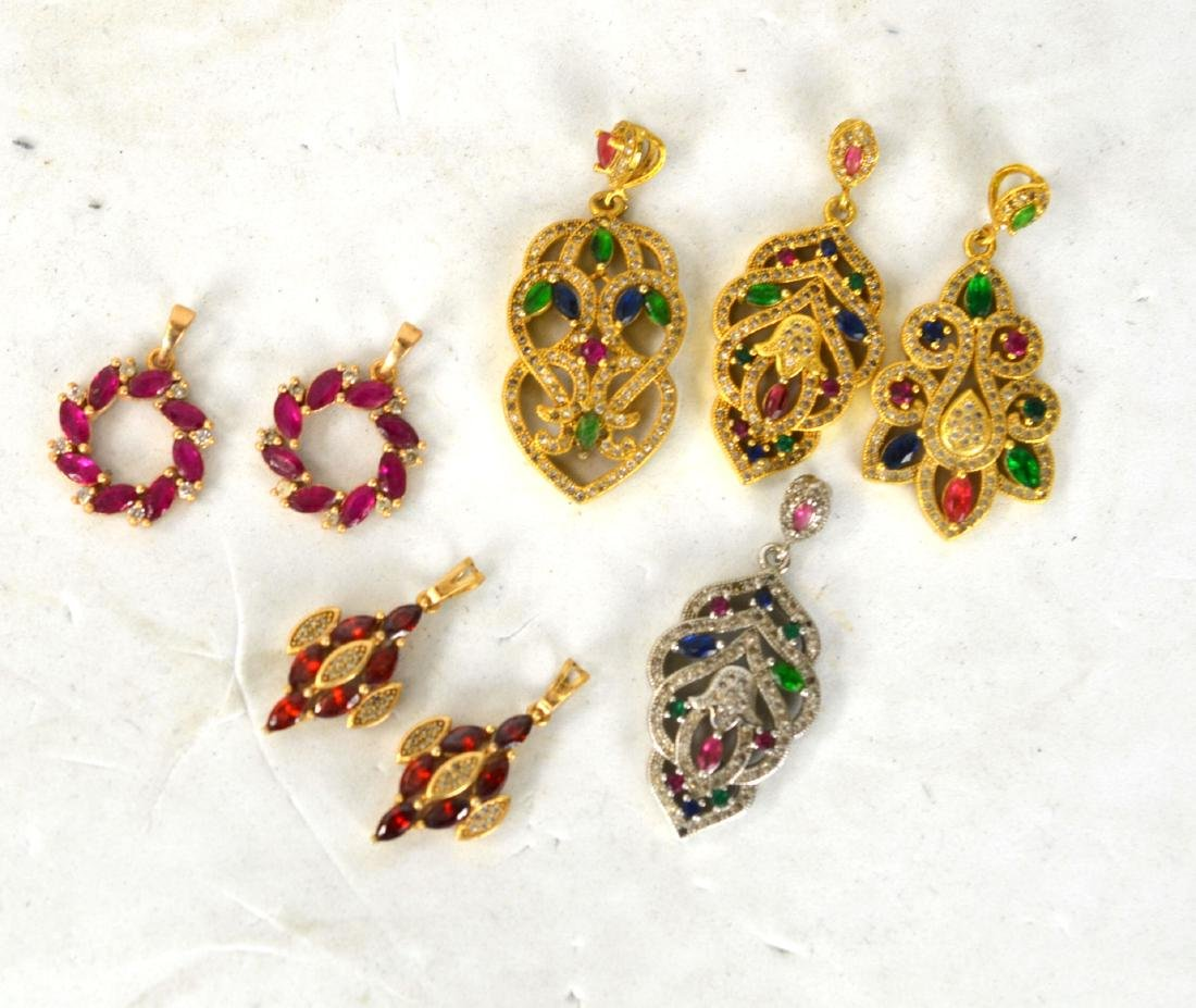 Four Pendants and Two Pairs of Earnings