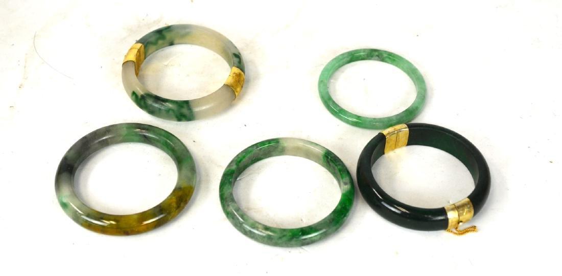 Five Chinese Jade Bangles