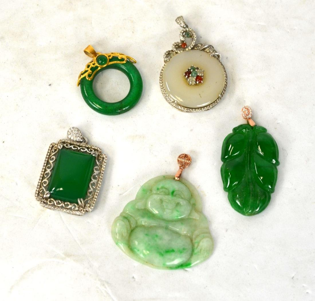 Five Chinese Jade Pendants