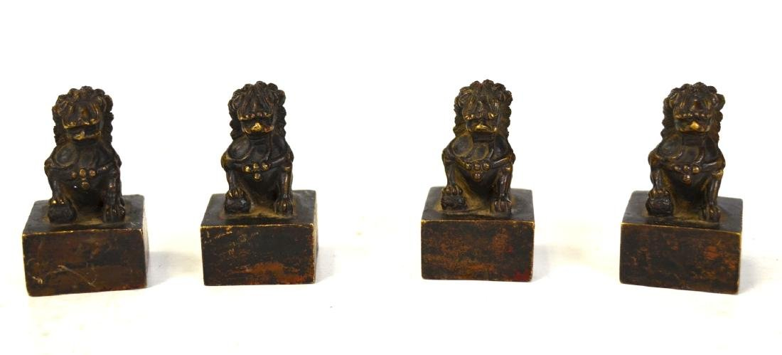 Four Miniature Chinese Bronze Seals