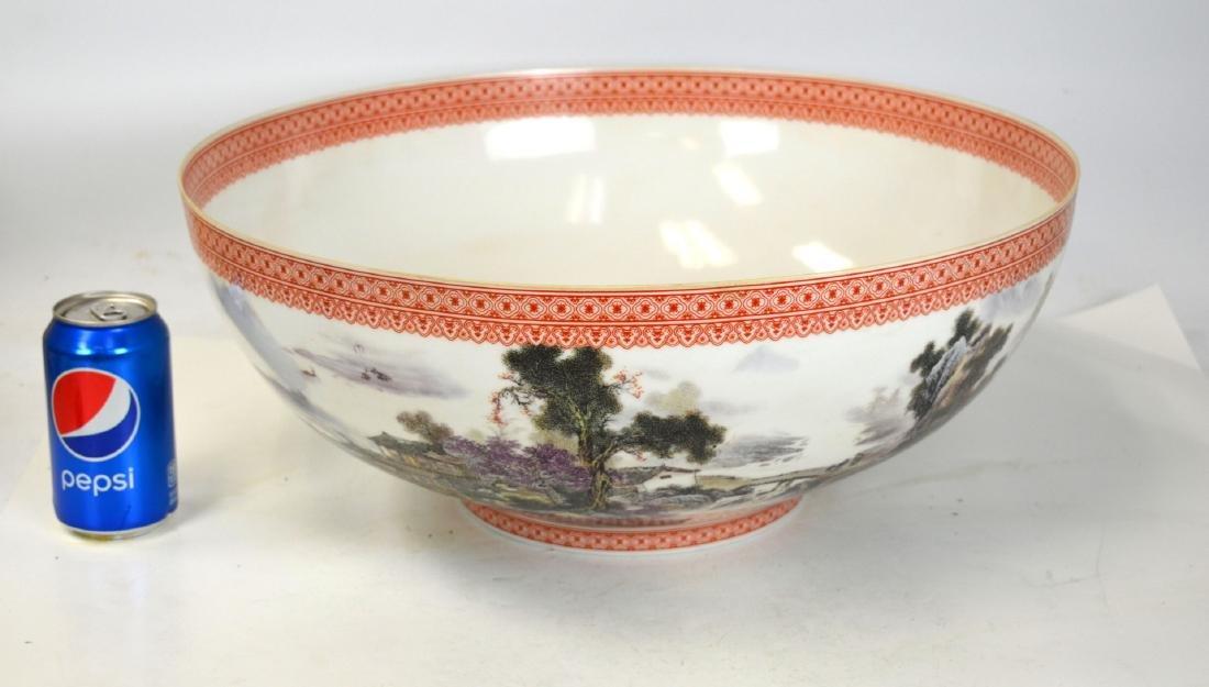 Large Chinese Eggshell Porcelain Bowl