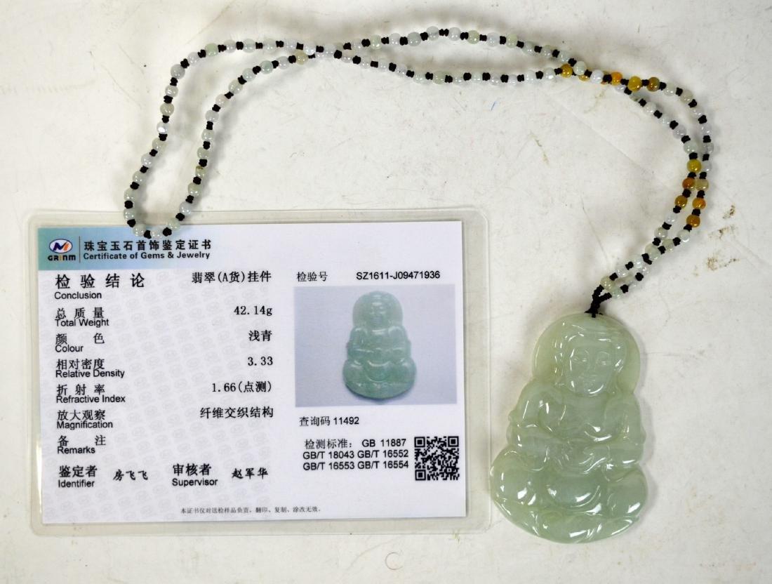 Chinese Jadeite Pendant Necklace