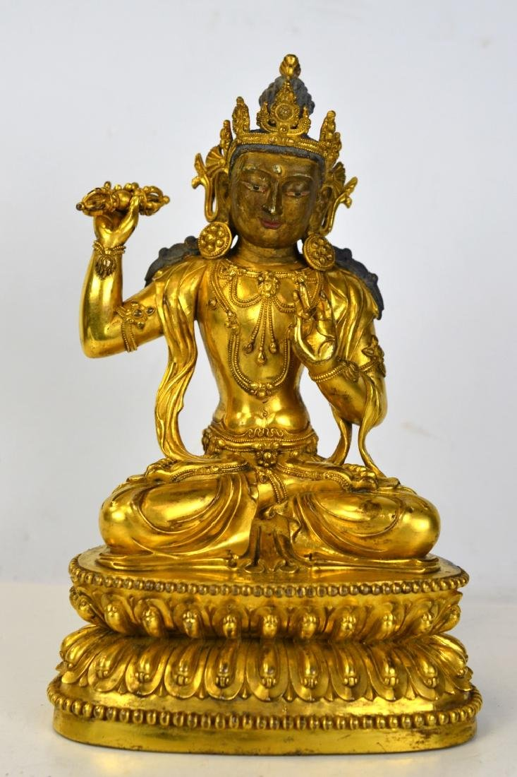 Chinese Gilt Bronze Buddha Figure