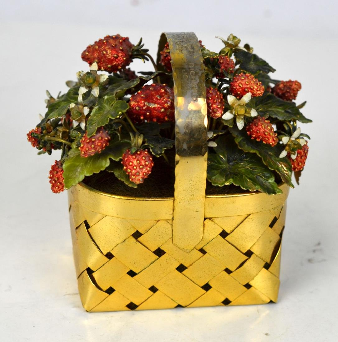 Cartier Gilt Silver Strawberry Basket