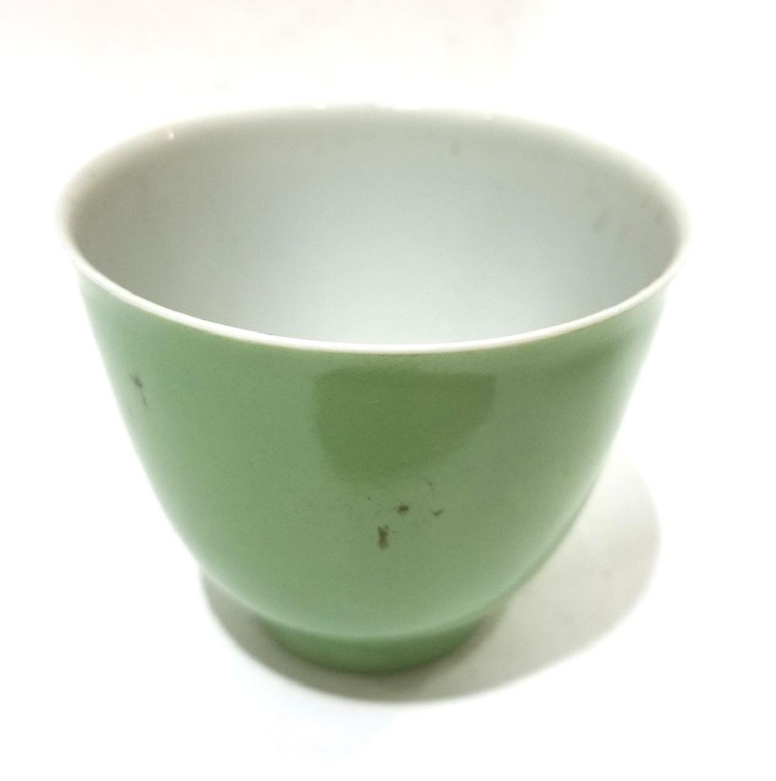 Chinese Light Green Glazed Wine Cup