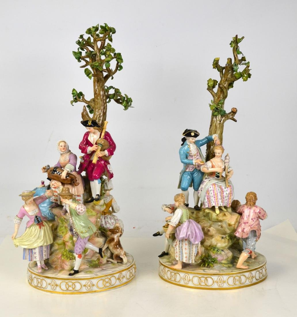 Large Pr Meissen Group of Merry Marking